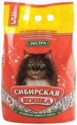 Сибирская кошка Экстра Впитывающий наполнитель для длинношерстных кошек, 5л