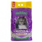 Сибирская кошка Экстра Комкующийся наполнитель для длинношерстных кошек, 5л