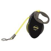 FLEXI рулетка-ремень для особо крупных и сильных собак, 10м до 50 кг (Giant Professional Neon tape), черная+неон