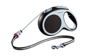 Flexi рулетка-трос для собак до 20кг, 5м,   (Vario M cord 5m ) серая
