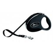 Flexi рулетка-ремень для собак до 12кг, 3м, черная (Collection S tape 3m black/black)