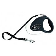 Flexi рулетка-ремень для собак до 12кг, 3м, черно-  (Collection S tape 3m black/blue)