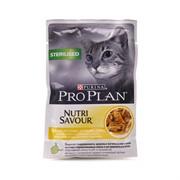 Pro Plan д/к конс.в/у  Nutri Savour STERILISED соус курица (0,085 кг)