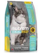 Nutram I17 Indoor Shedding Cat  сухой корм д/кошек, живущих в помещениях