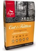 Orijen Cat & Kitten корм беззерновой для кошек Цыпленок (5,44 кг)