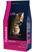 Eukanuba  Adult Dry Cat Food For Sterilised Cats Weight Control Chicken