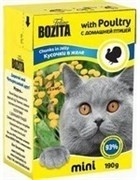BOZITA Mini Кусочки в желе для кошек с домашней птицей, Chunks in Jelly with Poultry