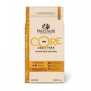WELLNESS CORE Сухой беззерновой корм для стерилизованных кошек с индейкой и курицей Sterilised (10 кг)
