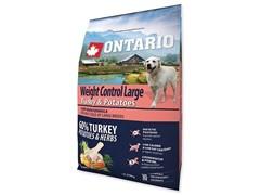Корм Ontario для собак крупных пород Контроль веса с индейкой и картофелем, Ontario Large Weight Control Turkey & Potatoes