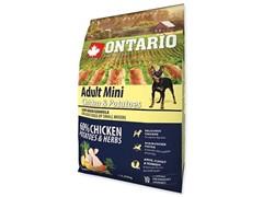 Корм Ontario для собак малых пород с курицей и картофелем, Ontario Adult Mini Chicken & Potatoes