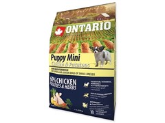 Корм Ontario для щенков малых пород с курицей и картофелем, Ontario Puppy Mini Chicken & Potatoes