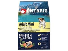 Корм Ontario для собак малых пород с 7 видами рыб и рисом, Ontario Adult Mini Fish & Rice (6,5 кг)