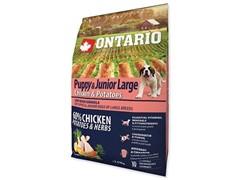 Корм Ontario для щенков крупных пород с курицей и картофелем, Ontario Puppy & Junior Large Chicken & Potatoes (12 кг)