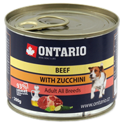 Ontario консервы для собак: говядина и цуккини, ONTARIO Mini Beef, Zuchini, Dandelion and linseed oil