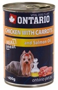 Ontario консервы для собак: курица и морковь, ONTARIO konzerva Chicken,Carrots,Salmon Oil