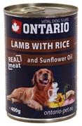 Ontario консервы для собак: ягненок и рис, ONTARIO konzerva Lamb,Rice,Sunflower Oil