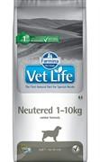FARMINA Vet Life Dog Neutered 1-10 кг для стерилизованных собак весом до 10 кг