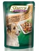 STUZZY SPECIALITY DOG консервы для собак с кроликом и овощами 100гр