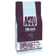 AATU Корм для взрослых кошек с лососем и сельдью