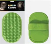 Щетка ГАММА резиновая овальная малая 12,5*8см (пакет)