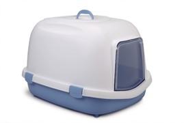 Beeztees 400424 Queen Туалет-домик д/кошек бело-голубой 55*71*46,5см