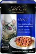 EDEL CAT Эдель Кэт пауч д/кошек кусочки в соусе с Лососем и Форелью 100г