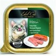 EDEL CAT Эдель Кэт  кон.д/кошек паштет с Кроликом 100г