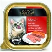 EDEL CAT Эдель Кэт  кон.д/кошек паштет с Зайчатиной и с Печенью 100г