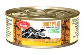 Зоогурман консервы д/собак Говядина с индейкой 100г