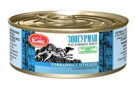 Зоогурман консервы д/собак Говядина с птицей 100г