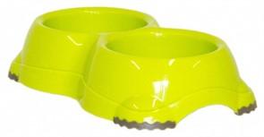 Moderna Двойная миска нескользящая Smarty, 2*645мл, салатовая
