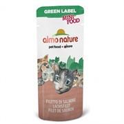 Almo-Nature Лакомство для кошек Филе Лосося, 99% мяса (Green Label Mini Food Salmon Fillet)