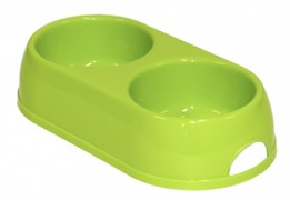 Moderna Миска двойная пластиковая Eco duplex, 2*570мл, салатовый