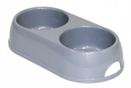 Moderna Миска двойная пластиковая Eco duplex, 2*570мл, серый