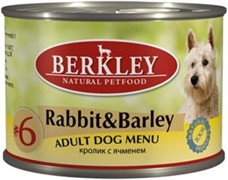 BERKLEY Беркли Консервы для собак с кроликом и ячменем, Adult Rabbit&Barley