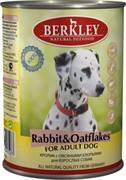 BERKLEY Беркли  консервы д/щенков Кролик с овсянкой 400г