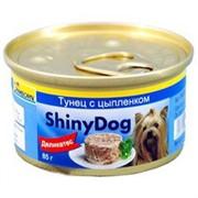 Gimpet Джимпет ShinyDog консервы д/собак Цыпленок с Тунцом 85г