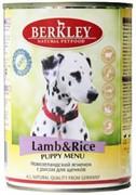 BERKLEY Беркли консервы д/щенков Ягненок с рисом 400г