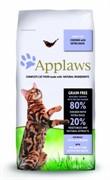 APPLAWS Беззерновой для Кошек Курица и Утка/Овощи: 80/20% (Dry Cat Chicken with Duck)