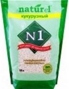 N1 Комкующийся наполнитель Naturel Кукурузный