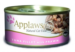 APPLAWS Консервы для Кошек с филе Тунца и Креветками (Cat Tuna Fillet & Prawn)