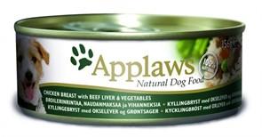 APPLAWS Консервы для Собак с Курицей, Говядиной, Печенью и овощами (Dog Chicken, Beef, Liver & Veg)