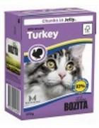 BOZITA  Кусочки в желе для кошек с рубленой индейкой, Bozita in Jelly with Minced Turkey