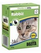 BOZITA Кусочки в желе для кошек с кроликом, Bozita in Jelly with Rabbit