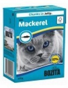 BOZITA  Кусочки в желе для кошек со скумбрией, Bozita in Jelly with Mackerel