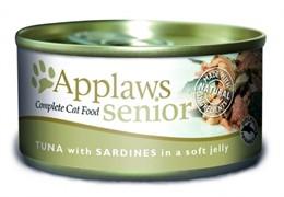 APPLAWS Кусочки в желе для Пожилых кошек с Тунцом и Сардинками (Senior Cat Tuna with Sardine in Jelly)