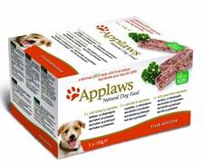 APPLAWS Набор для Собак Индейка, Говядина, Океаническая рыба, 5шт.*150г (Dog Pate MP Fresh Selection-  Turkey, beef, ocean fish)