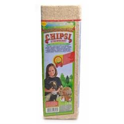 Chipsi Strawberry  Наполнитель древесный ароматизированный для грызунов 15л*1кг - фото 11223
