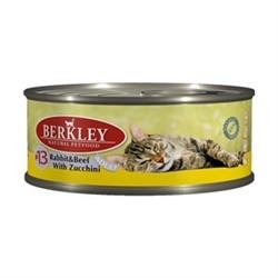 BERKLEY Беркли Консервы для кошек с кроликом, говядиной и цуккини - фото 11823