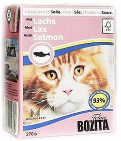 BOZITA Кусочки в соусе для кошек с лососем, Bozita in Sauce with Salmon - фото 11904